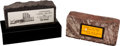 Baseball Collectibles:Others, Stan Musial Souvenir Bricks Lot of 2....
