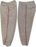 Baseball Collectibles:Uniforms, 1950's Stan Musial Game Worn St. Louis Cardinals Pants (2 pairs)....