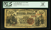 Eufaula, IT - $20 1882 Brown Back Fr. 504 The First NB Ch. # (W)5902