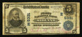National Bank Notes:Maryland, Midland, MD - $5 1902 Plain Back Fr. 607 The First NB Ch. #(E)5331. ...