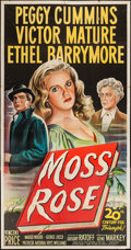 "Movie Posters:Mystery, Moss Rose (20th Century Fox, 1947). Three Sheet (41"" X 79"").Mystery.. ..."