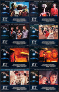 """Movie Posters:Science Fiction, E.T. The Extra-Terrestrial (Universal, R-1985). British Lobby Card Set of 8 (11"""" X 14""""), Portfolio (3 Mounted Photos in 11"""" ... (Total: 10 Items)"""