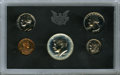 Proof Sets, 1970 10C No S Proof Set Uncertified. Mintage: 2,200. This 1970 proof set is well-preserved and the coins show some elements... (Total: 5 coins)