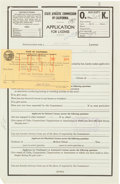 Boxing Collectibles:Autographs, 1959 Jack Dempsey Signed Guest Referee Contract....