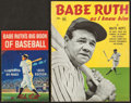 Baseball Collectibles:Publications, 1935 and 1948 Babe Ruth Publications Lot of 2....