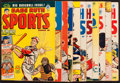 Baseball Collectibles:Publications, Circa 1950 Babe Ruth's Sports Comic Books Lot of 11....