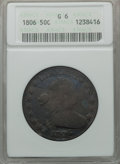 Early Half Dollars: , 1806 50C Pointed 6, Stem Good 6 NGC. NGC Census: (7/1875). PCGSPopulation (13/1041). Mintage: 839,576. Numismedia Wsl. Pri...