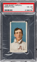 Baseball Cards:Singles (Pre-1930), 1909-11 T206 Sweet Caporal Eddie Plank PSA VG-EX 4....