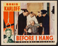 "Movie Posters:Horror, Before I Hang (Columbia, 1940). Lobby Card (11"" X 14""). Horror.. ..."