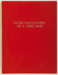Books:Science Fiction & Fantasy, [Production Script]. Steven Spielberg. Close Encounters of theThird Kind. Copy of shooting script, written by Paul ...