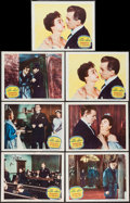 """Movie Posters:Thriller, Footsteps in the Fog (Columbia, 1955). Lobby Cards (7) (11"""" X 14""""). Thriller.. ... (Total: 7 Items)"""