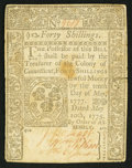 Colonial Notes:Connecticut, Connecticut May 10, 1775 40s Very Fine-Extremely Fine.. ...