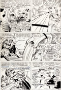 "Original Comic Art:Panel Pages, Jack Kirby and Joe Sinnott Fantastic Four #58 ""The DismalDregs of Defeat!"" Page 12 Original Art (Marvel, 1967)...."