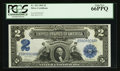 Large Size:Silver Certificates, Fr. 253 $2 1899 Silver Certificate PCGS Gem New 66PPQ.. ...