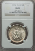 Commemorative Silver: , 1937-D 50C Texas MS64 NGC. NGC Census: (152/1004). PCGS Population(364/1352). Mintage: 6,605. Numismedia Wsl. Price for pr...