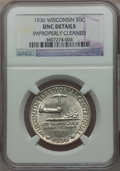 Commemorative Silver: , 1936 50C Wisconsin -- Improperly Cleaned -- NGC Details. UNC. NGCCensus: (0/3699). PCGS Population (0/5889). Mintage: 25,0...