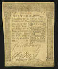 Colonial Notes:Pennsylvania, Pennsylvania March 20, 1773 16s Very Fine.. ...
