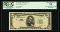 Error Notes:Obstruction Errors, Fr. 1962-D $5 1950A Federal Reserve Note. PCGS Choice About New55.. ...