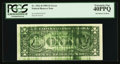 Error Notes:Ink Smears, Fr. 1921-D $1 1995 Federal Reserve Note. PCGS Extremely Fine40PPQ.. ...