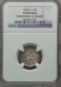 Seated Dimes: , 1838-O 10C No Stars -- Improperly Cleaned -- NGC Details. VF.Mintage: 406,034. ...