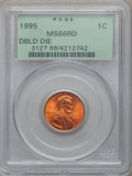 Lincoln Cents, (6)1995 1C Doubled Die Obverse MS66 Red PCGS. ... (Total: 6 coins)