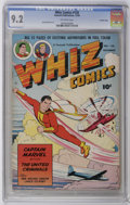 Golden Age (1938-1955):Science Fiction, Whiz Comics #128 Crowley Copy pedigree (Fawcett, 1950) CGC NM- 9.2 Off-white pages. Basil Wolverton art. Overstreet 2006 NM-...