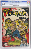 Golden Age (1938-1955):Horror, Beware Terror Tales #5 Crowley Copy pedigree (Fawcett, 1953) CGC VF8.0 Off-white to white pages. Bernard Baily cover. Overs...