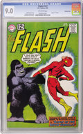Silver Age (1956-1969):Superhero, The Flash #127 Western Penn pedigree (DC, 1962) CGC VF/NM 9.0Off-white pages. Evil gorilla Grodd returns this issue, with a...