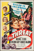 """Movie Posters:Crime, The Threat (RKO, 1949). One Sheet (27"""" X 41""""), Title Lobby Card & Lobby Cards (3) (11"""" X 14""""). Crime.. ... (Total: 5 Items)"""