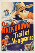 """Movie Posters:Western, Trail of Vengeance (Republic, 1937). One Sheet (27"""" X 41""""). Western.. ..."""
