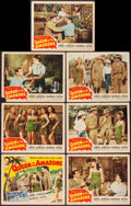 "Movie Posters:Adventure, Queen of the Amazons (Screen Guild Productions, 1947). Title LobbyCard & Lobby Cards (6) (11"" X 14""). Adventure.. ... (Total: 7Items)"