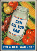 """Movie Posters:War, World War II """"Can All You Can"""" (U.S. Government Printing Office,1943). WWII Propaganda Poster (16"""" X 22.5""""). War.. ..."""