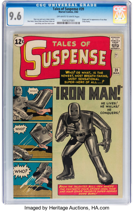 Tales of Suspense #39 (Marvel, 1963) CGC NM+ 9.6 Off-white to white pages....