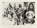 Fine Art - Work on Paper:Print, PABLO PICASSO (Spanish, 1881-1973). Homme frisé se balançant(from Séries 347), 1969. Aquatint with drypoint. 11 x 15-1/...