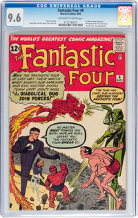 Fantastic Four #6 (Marvel, 1962) CGC NM+ 9.6 Off-white to white pages
