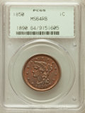 Large Cents: , 1850 1C MS64 Red and Brown PCGS. PCGS Population (158/96). NGCCensus: (96/130). Mintage: 4,426,844. Numismedia Wsl. Price ...