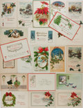 Books:Americana & American History, [Post Cards]. Group of 20 Christmas Related Postcards. Ca. 1910'sand 1920's. 5.5 x 3.5 inches. Some have been mailed. Light...
