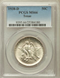 Commemorative Silver: , 1938-D 50C Texas MS66 PCGS. PCGS Population (284/79). NGC Census:(301/94). Mintage: 3,775. Numismedia Wsl. Price for probl...
