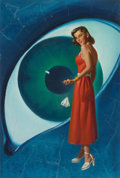 Pulp, Pulp-like, Digests, and Paperback Art, HAROLD W. MCCAULEY (American, 1913-1977). Eye of the Temptress,Other Worlds Science Stories digest cover, March 1951. O...