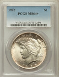 Peace Dollars, 1925 $1 MS64+ PCGS. PCGS Population (17005/8549). NGC Census:(21103/11876). Mintage: 10,198,000. Numismedia Wsl. Price for...