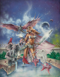 CLYDE CALDWELL (American, 20th Century) The Second Season of the Witch, Heavy Metal magazine calendar art</