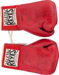Boxing Collectibles:Autographs, Circa 1980 Michael Spinks Signed Boxing Gloves....