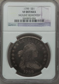 Early Dollars, 1799 $1 7x6 Stars -- Mount Removed -- NGC Details. VF. B-10,BB-163, R.2....