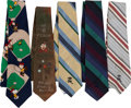 Baseball Collectibles:Others, Stan Musial Owned & Worn Neckties Lot of 5....