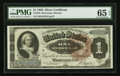 Large Size:Silver Certificates, Fr. 219 $1 1886 Silver Certificate PMG Gem Uncirculated 65 EPQ.....
