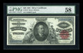 Large Size:Silver Certificates, Fr. 319 $20 1891 Silver Certificate PMG Choice About Unc 58....
