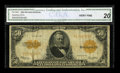 Large Size:Gold Certificates, Fr. 1200 $50 1922 Gold Certificate CGA Very Fine 20....