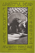Music Memorabilia:Posters, Grateful Dead Fillmore West Concert Poster BG-237 (Bill Graham,1970). Artist David Singer provided a moody photo collage a...(Total: 1 Item)