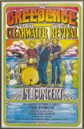 Music Memorabilia:Posters, Creedence Clearwater Revival Forum Concert Poster (1971). LosAngeles' fabulous Forum was the site for two shows by Creeden...(Total: 1 Item)