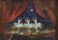 Fine Art - Painting, American:Modern  (1900 1949)  , JOHN WEGNER (American 1887-1976). The Dancers. Oil oncardboard. 5 x 7 inches (12.7 x 17.8 cm). Signed lower left:Joh...